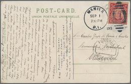 Philippinen: 1910 Destination MADEIRA: Manila Picture Postcard Written At Colegio San Carlos In Cebu - Philippinen