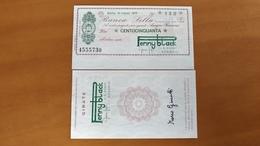 MINIASSEGNO BANCA SELLA VALORE 150 LIRE FDS 1° SCELTA (Penny Black Con Girata) 10 Marzo 1977 - [10] Scheck Und Mini-Scheck