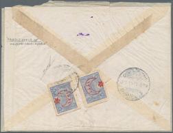 "Saudi-Arabien: 1917, MEDINA: Bilingual ""SAHRA POSTASI 28"" Cds. (Uexkull Fig.85) On Registered Fieldp - Saudi-Arabien"