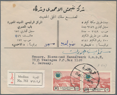 Saudi-Arabien: 1929/1975 Four Covers To Germany Including 1929 Cover From Mecca To Dresden Via Djedd - Saudi-Arabien