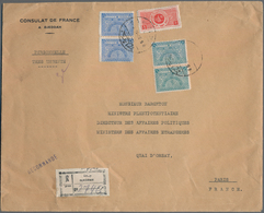 Saudi-Arabien: 1934. Registered Envelope Headed 'Consulate De France A Djeddah' Addressed To 'Monsie - Saudi-Arabien