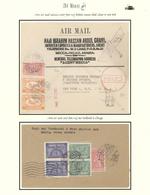 """Saudi-Arabien: 1942-50, Two Pilgrim Air Mail Envelopes """"AL-HAJJ"""" With Imprints, Postally Used From M - Saudi-Arabien"""