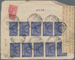 Saudi-Arabien: 1943. Air Mail Envelope (opening Faults) Addressed To India Bearing Yvert 115a, 3g Bl - Saudi-Arabien