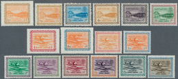 Saudi-Arabien: 1963/64, Dam And Oil Plant Definitives Revised Sizes, Total 16 Vals., Mint Never Hing - Saudi-Arabien