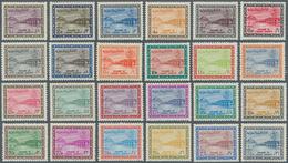 Saudi-Arabien: 1964/70, Dam Redrawn Set 1 P.-200 P.. 13, 20 Pia. LH, Otherwise Mint Never Hinged MNH - Saudi-Arabien