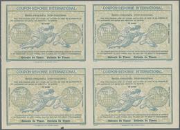 "Timor: Design ""Rome"" 1906 International Reply Coupon As Block Of Four 15 Avos Timor. This Block (sma - Osttimor"