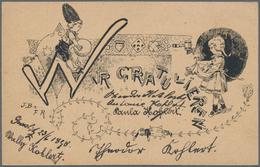 """Thematik: Feste, Jubiläen / Festivals, Anniversary: 1898, """"Wir Gratulieren"""" (we Congratulate) 2 Kreu - Ohne Zuordnung"""