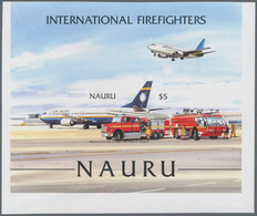 Thematik: Feuerwehr / Firebrigade: 2002, NAURU: International Firefighters Perforate And IMPERFORATE - Feuerwehr