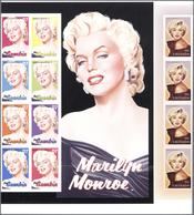 Thematik: Film-Kino / Film-cinema: 2004, GAMBIA And GRENADA: Marilyn Monroe Part Of Uncut IMPERFORAT - Film