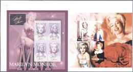 Thematik: Film-Kino / Film-cinema: 2004, GAMBIA And ST. VINCENT: Marilyn Monroe Horizontal Pair Of T - Film