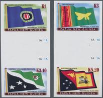 Thematik: Flaggen / Flags: 2005, PAPUA NEW GUINEA: Flags Of The Provinces Part Set Of Four (K1 To K5 - Flaggen