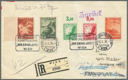 Thematik: Judaika / Judaism: OSTMARK: 1938 (16.10.), ÖSTERREICH, R-Brief Mit Mischfrankatur Österr. - Briefmarken