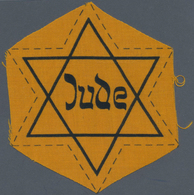 """Thematik: Judaika / Judaism: Ca. 1940, Original Gelber """"Judenstern"""" Ungetragen Und Noch Unbeschnitte - Briefmarken"""
