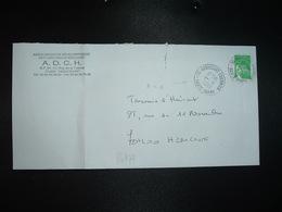 LETTRE TP M. DE LUQUET TVP VERT OBL.1-8 2003 70 HERICOURT COURRIER HAUTE SAONE - Marcophilie (Lettres)