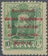 """Thematik: Politik / Politics: 1929, Spain. 10 Centimos, Yellow-green, Overprinted """"Sociedad De Las N - Sonstige"""