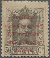 """Thematik: Politik / Politics: 1929, Spain. 30 Centimos, Black-brown, Overprinted """"Sociedad De Las Na - Sonstige"""