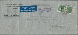 "Thematik: Politik / Politics: 1941, Switzerland. Pre-printed Long Format Airmail Cover ""Societe Des - Sonstige"