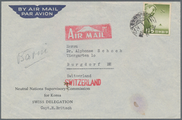 "Thematik: Politik / Politics: 1950, Airmail Cover With Imprint ""Neutral Nation Supervisory Commissio - Sonstige"