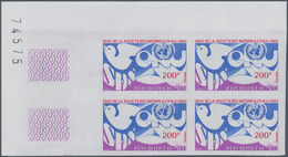 """Thematik: Politik / Politics: 1980, Mali. """"200fr League Of Nations, 60th Anniversary"""" In An IMPERFOR - Sonstige"""