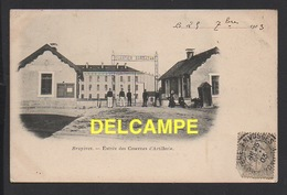 DD / MILITARIA / 88 VOSGES / BRUYÈRES / ENTRÉE DES CASERNES D' ARTILLERIE / ANIMÉE / 1903 - Casernes