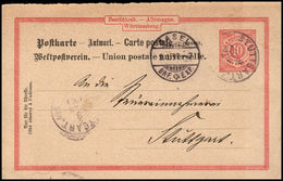 P 29 II Antwort Postkarte - Wurtemberg