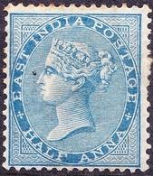 INDIA 1873QV 1/2Anna BlueSG76MH - India (...-1947)
