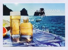 DOLCE & GABBANA - Light Blue - SUN --- Carte Parfumée Perfume Card Avec 2 Patch - Duftkarten