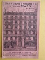 LIVRET DE LA MAISON MAZO, CATALOGUE 1900 DE PHOTOGRAPHIE N° 33 - Other