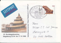 Germany Cover With Cachet Sent To Denmark Magdeburg 30-7-1999 (Bundesgartenschau Magdeburg) - [7] Federal Republic