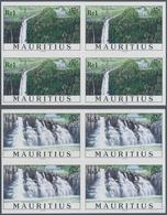 """Thematik: Wasserfälle / Waterfalls: 1998, Mauritius. Complete Set """"Waterfalls"""" In IMPERFORATE Blocks - Briefmarken"""
