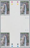 Thematik: Wasserfälle / Waterfalls: 1998, Mauritius. IMPERFORATE Cross Gutter Pair For The 10rs Valu - Briefmarken
