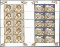 Thematik: Weihnachten / Christmas: 2000, Vatikan, Christmas, 1200 L + 1500 L And 2000 L + 800 L, Two - Weihnachten