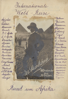 "Ägypten - Besonderheiten: 1913, 25 Jan - 4 Aug, PHILATELIC TRAVEL DIARY ""AFRICA ROUND TRIP"" Of Mr Jo - Egypte"