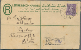 Ägypten - Besonderheiten: 1947, Egyptian Registered 30 M Stationery Envelope With Additional British - Egypte