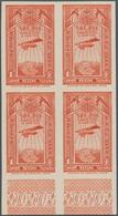 Äthiopien: 1931, Airmails, 1g. Brownish Orange, Bottom Marginal Imperforate Block Of Four, Mint Neve - Äthiopien