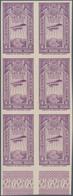 Äthiopien: 1931, Airmails, 4g. Lilac, Bottom Marginal Imperforate Block Of Six, Mint Never Hinged. Y - Äthiopien