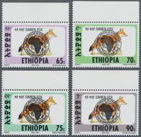 """Äthiopien: 1994 """"African Development Bank 30th Anniversary"""" Set Of Four Top Marginal """"Simien Fox"""" St - Äthiopien"""