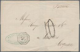"Argentinien: 1869, ""CONFEDERATION ARGENTINE"" French Octagon Cancel And Handwritten Tax ""10"" On Folde - Ohne Zuordnung"