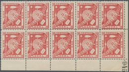 Argentinien - Feuerland: 1891, Julio Popper Local Stamp 10c. Carmine 'TIERRA DEL FUEGO' Block Of Ten - Ohne Zuordnung