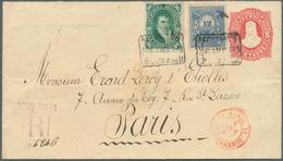 Argentinien - Ganzsachen: 1887 Postal Stationery Envelope 8c. Red Uprated 1878 'Manuel Belgrano' 16c - Ganzsachen