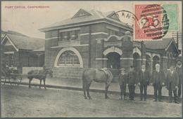 "Victoria - Destinationen: 1913, Mixed Franking 1/2 D Victoria And 1 D Kangaroo, Australia On Ppc ""Po - 1850-1912 Victoria"