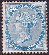 INDIA 1873QV 1/2Anna BlueSG75MH - 1882-1901 Empire