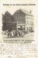 Virton Saint Mard Imprimerie Raty Magasin De Cartes Postales Illustrées 1900 Animation - Virton