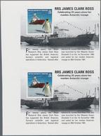 Britische Gebiete In Der Antarktis: 2011, Research Ships (RRS James Clark Ross And Penguin) Miniatur - Britisches Antarktis-Territorium  (BAT)