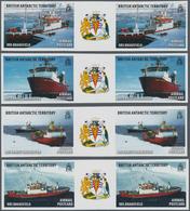 Britische Gebiete In Der Antarktis: 2011, Research Ships Part Set Of Four Different Stamps (RRS Bran - Britisches Antarktis-Territorium  (BAT)