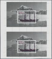 Britische Gebiete In Der Antarktis: 2012, 75 Years Expedition To Grahamland Miniature Sheet (sailing - Britisches Antarktis-Territorium  (BAT)
