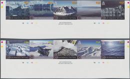 Britische Gebiete In Der Antarktis: 2012, Glaciers And Ice Formations Complete Set Of Ten In Two Se- - Britisches Antarktis-Territorium  (BAT)