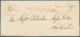 """Canada - Vorphilatelie: """"CARILLION L.C."""" Red Double Cds + M/s """"Jan 23/43"""" On Entire Letter With Two - ...-1851 Voorfilatelie"""