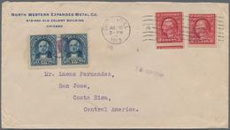 "Costa Rica: 1913, USA 2x 2 C Carmine On Envelope Sent From ""CHICAGO JUL 12 1913"" Sent Via New Orlean - Costa Rica"