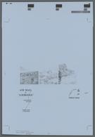 Falklandinseln: 1984, Printers Color Progressive Proof Printed In Black, For The 1984 (1st Issue) QE - Falklandinseln